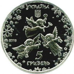 Moneda > 5grivnas, 2018 - Ucrania  (For the New Year Holidays) - reverse