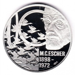 Munt > 5euro, 1998 - Nederland  (Maurits Cornelis Escher) - obverse