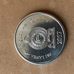 Coin > 1rupee, 2017 - Sri Lanka  - reverse