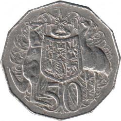 Кованица > 50центи, 1969-1984 - Аустралија  - reverse