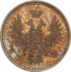 Монета > 5копеек, 1854 - Россия  (Серебро /серый цвет/) - obverse
