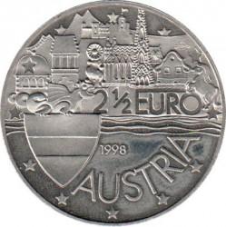 Moeda > 2½euro, 1998 - Áustria  (Wiener Schatzkammer) - obverse