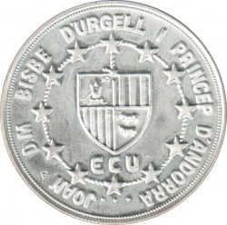 Moneta > 10dinarų, 1992 - Andora  (ECU - Charlemagne) - obverse