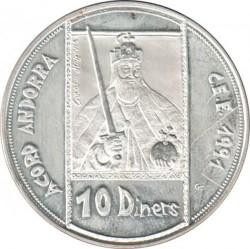 Moneta > 10dinarų, 1992 - Andora  (ECU - Charlemagne) - reverse