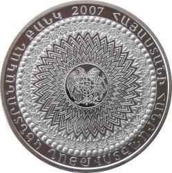 Moneda > 1957dram, 2007 - Armenia  (50º Aniversario - Open de Matenadaran) - obverse