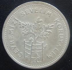 Moneta > 1.000lire, 1990 - Turchia  (Protezione ambientale) - obverse