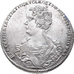 Mynt > 1 poltina, 1726 - Russland  (Portrait to the left. Text above the portrait) - obverse
