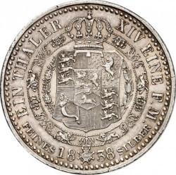Moneda > 1taler, 1838-1840 - Hannover  - reverse
