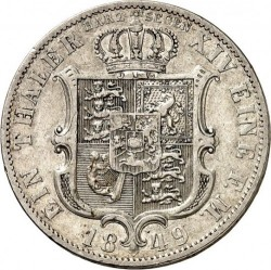 Moneta > 1thaler, 1849-1851 - Hanower  - reverse