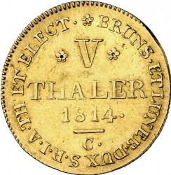 Moneta > 5taleriai, 1814-1815 - Hanoveris  - reverse