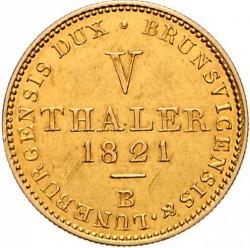Moneta > 5talarów, 1821-1830 - Hanower  - reverse