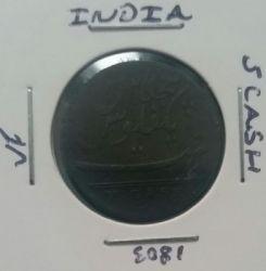 Moneta > 5kašai, 1803 - Indija - Britų  (Didelės raidės) - obverse