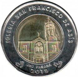 Moneta > 1balboa, 2019 - Panama  (Kościół św. Franciszka z Asyżu) - reverse
