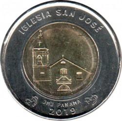 Moneta > 1balboa, 2019 - Panama  (Świątynia Iglesia San Jose) - reverse