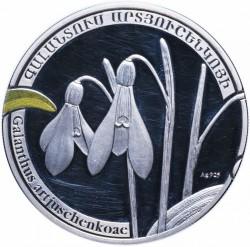Moneda > 1000dram, 2010 - Armenia  (Plantas - Galanthus artjuschenkoae) - reverse