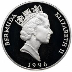 Moneta > 1dolar, 1996 - Bermudy  (Królowa Elzbieta II, Królowa Matka - Koronacja Jerzego VI) - obverse