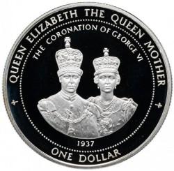Moneta > 1dolar, 1996 - Bermudy  (Królowa Elzbieta II, Królowa Matka - Koronacja Jerzego VI) - reverse