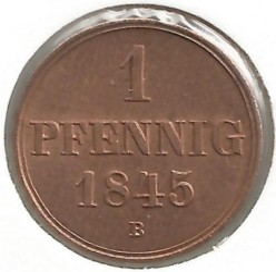 Münze > 1Pfennig, 1845-1851 - Hannover   - obverse