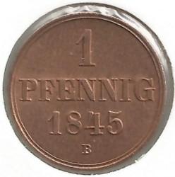 Münze > 1Pfennig, 1845-1851 - Hannover   - reverse