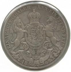 Moneda > 1vereinsthaler, 1857-1866 - Hannover  - obverse
