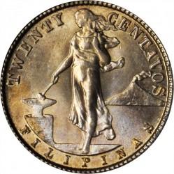 Νόμισμα > 20Σεντάβος, 1918 - Φιλιππίνες  - reverse