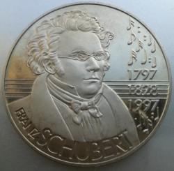 Moeda > 5ECUs, 1997 - Áustria  (200th Anniversary - Franz Schubert) - reverse