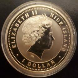 Moneta > 1dolar, 2007 - Niue  (Chiński zodiak - Rok świni /sukces/) - reverse
