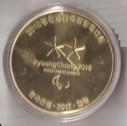 Moneta > 1000wonów, 2017 - Korea Południowa  (XXIII Zimowe Igrzyska Olimpijskie, Pyeongchang 2018) - obverse