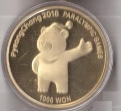Moneta > 1000wonów, 2017 - Korea Południowa  (XXIII Zimowe Igrzyska Olimpijskie, Pyeongchang 2018) - reverse