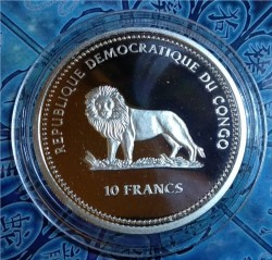 Coin > 10 francs, 2000 - Congo - DRC  (Marine Life Protection) - reverse