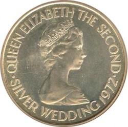 Moneta > 2sterline, 1972 - Jersey  (25° Anniversario - Matrimonio della Regina Elisabetta II e del Principe Filippo) - obverse