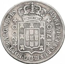 Монета > 200рейса, 1778-1785 - Португалия  - obverse