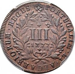 Монета > 3рейса, 1777 - Португалия  - reverse