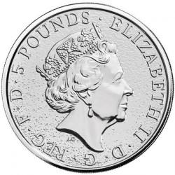Монета > 5фунтів, 2018 - Велика Британія  (Звірі Королеви - Єдиноріг Шотландії) - obverse
