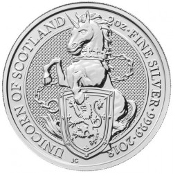 Монета > 5фунтів, 2018 - Велика Британія  (Звірі Королеви - Єдиноріг Шотландії) - reverse