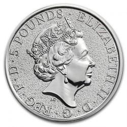 Монета > 5фунтів, 2016 - Велика Британія  (Звірі Королеви - Лев Англії) - obverse