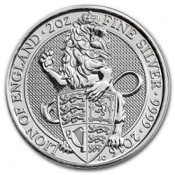 Монета > 5фунтів, 2016 - Велика Британія  (Звірі Королеви - Лев Англії) - reverse