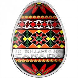 Coin > 20dollars, 2016 - Canada  (Traditional Ukrainian Pysanka) - reverse