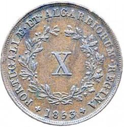 Кованица > 10реиса, 1840-1853 - Португал  - reverse