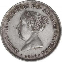 Монета > 100рейса, 1853 - Португалия  - obverse