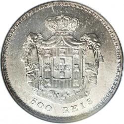Монета > 500рейса, 1837-1853 - Португалия  - reverse