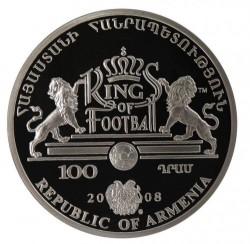 Moneda > 100dram, 2008 - Armenia  (Los Reyes del Fútbol - Eusebio) - obverse