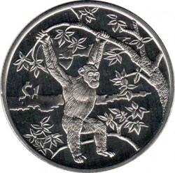 Moneta > 1dollaro, 2006 - Sierra Leone  (Animali - Scimpanzé) - reverse