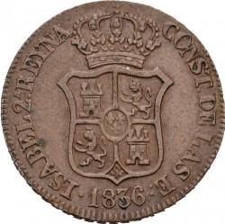 Кованица > 3quartos, 1836-1846 - Spanish provinces  - obverse