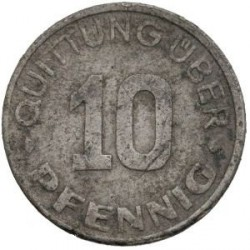 Münze > 10 Pfennig, 1942 - Polen  (Date within Star) - reverse