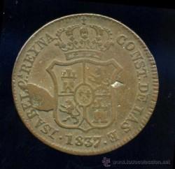 Moneda > 3quartos, 1836-1846 - Províncies espanyoles  - obverse