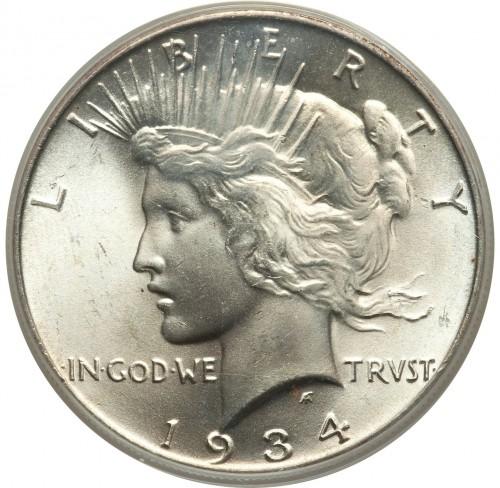 1 dollar 1921-1935 - Peace Dollar, USA - Coin value - uCoin net