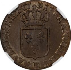 Pièce > 1sol, 1777-1791 - France  - reverse