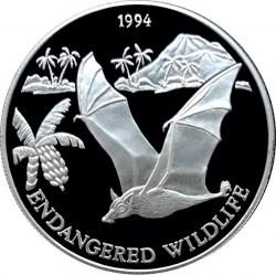 Moneta > 10tala, 1994 - Samoa  (Fauna in via di estinzione - Pipistrello) - reverse