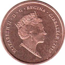Moneta > 1penny, 2017 - Gibilterra  (50° anniversario del referendum) - obverse